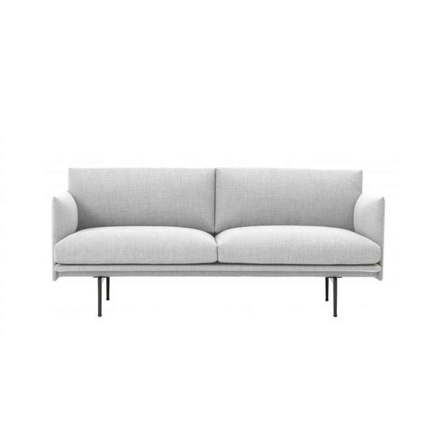 Canapé OUTLINE SOFA / 2 ou 3 places / tissu Kvadrat / gris blanc + 5 coloris