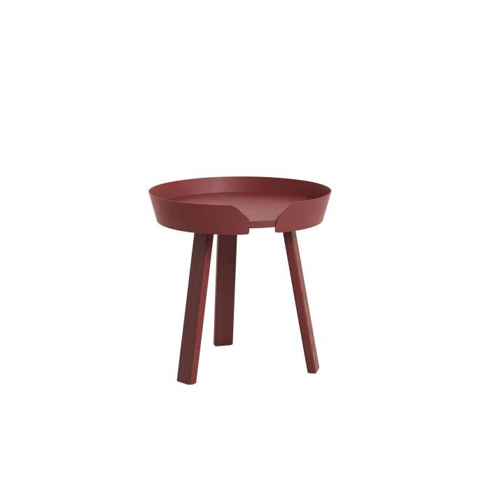 Table basse AROUND / Small / Rouge foncé + 9 couleurs