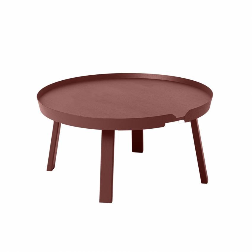 Table basse AROUND / Large / Rouge foncé + 8 couleurs
