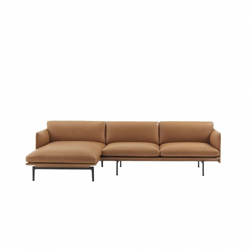 Canapé d'angle / OUTLINE SOFA / Cuir / Cognac