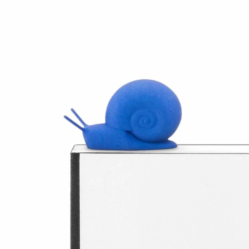 Marque page ESCARGOT / Bleu azur