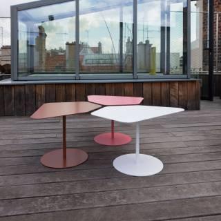 Table basse Kona / Intérieur ou Extérieur / Gris + 4 coloris