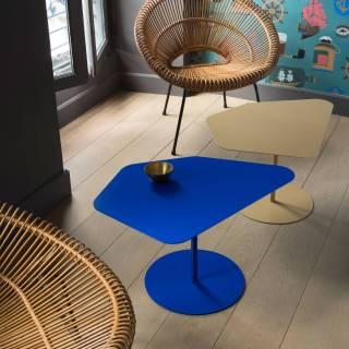 Table basse Kona / Intérieur ou Extérieur / Bleu + 4 coloris