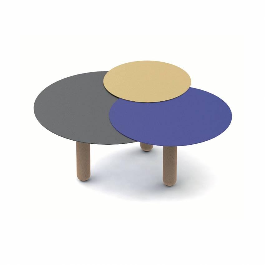 Table basse CERS / Anthracite, Bleu et Or