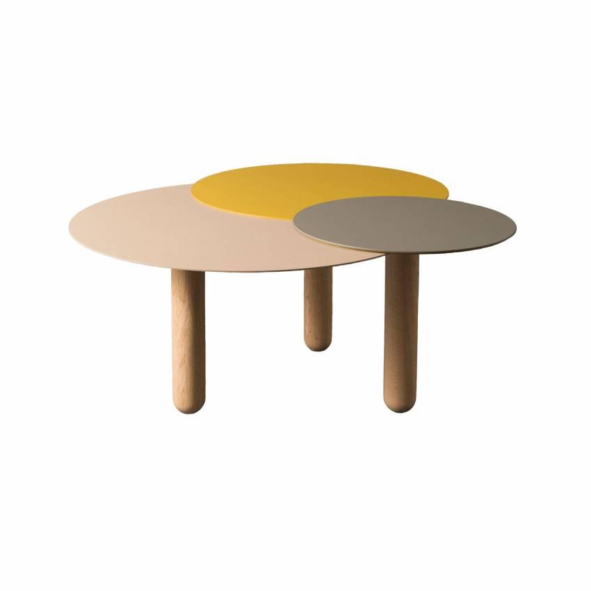 Table basse CERS / Sable, Jaune et Gris bleu