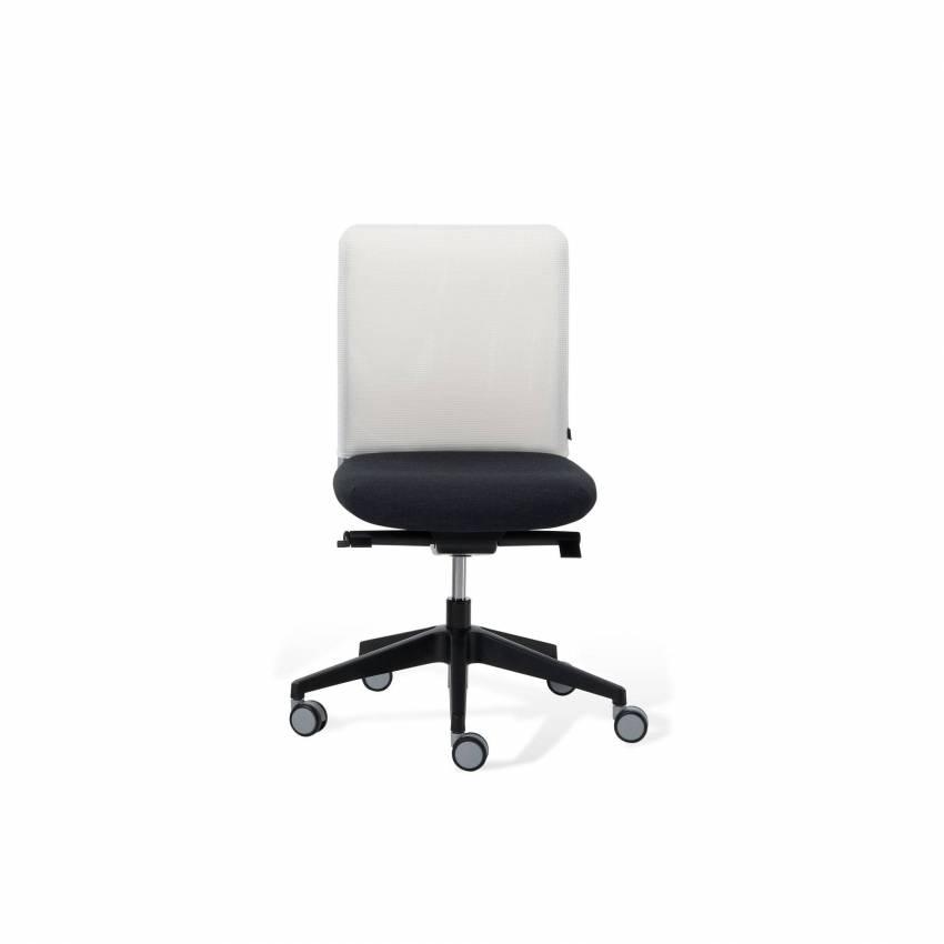 Fauteuil de bureau ONE / Blanc et noir / Sans accoudoirs