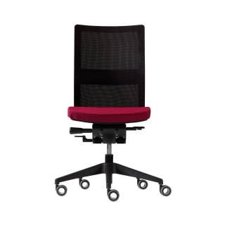 Fauteuil de bureau ITEK / Noir et rouge / Sans accoudoirs