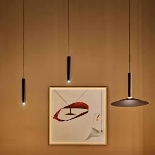 Suspension MILANA tube LED / Noir / Marset
