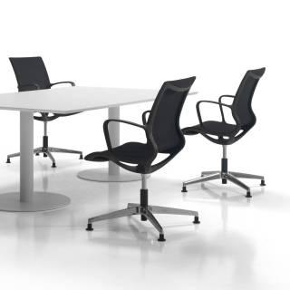 Chaise de bureau ZERO / Patins fixes / Noir