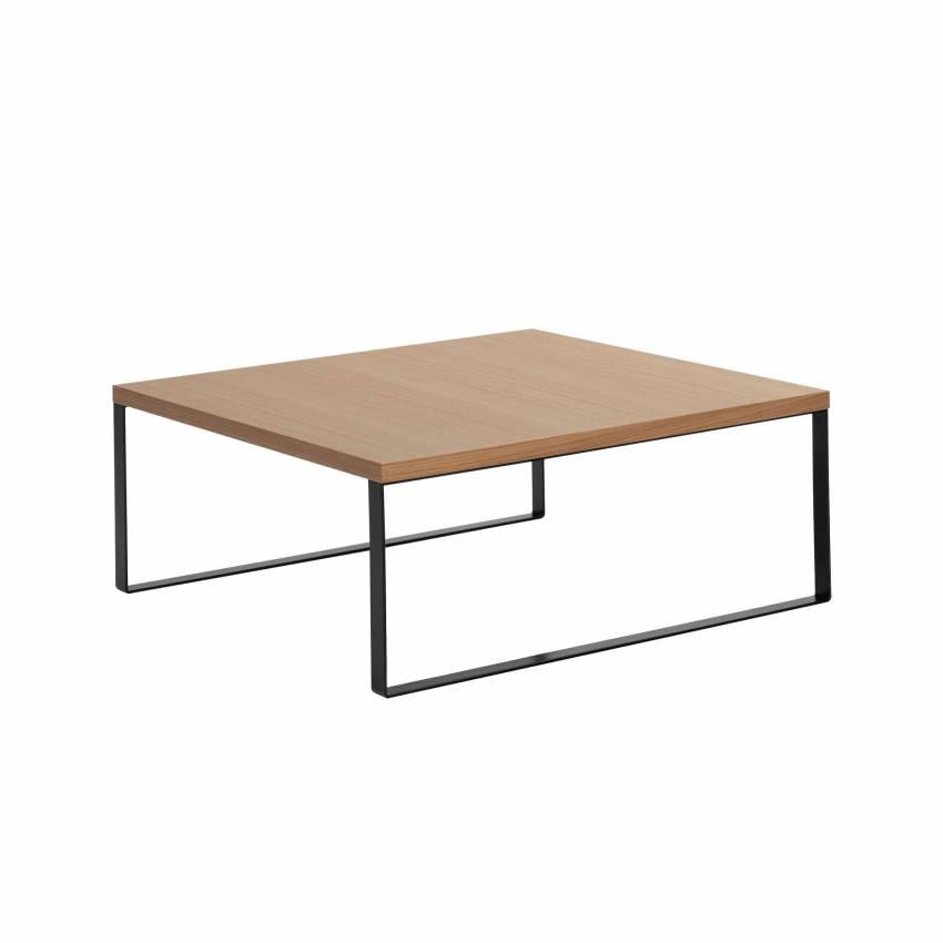 Table de salle d'attente AVALON / 90 x 90 cm / Chêne