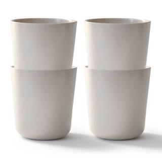 GUSTO BIOBU le verre bambou blanc - Ekobo