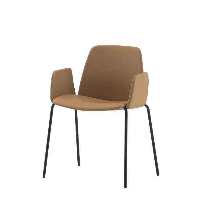 Chaise avec accoudoir UNNIA TAPIZ / Cuir