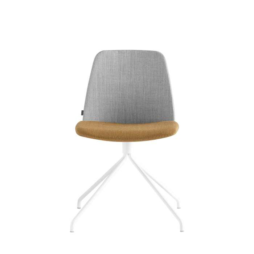 Chaise-bureau-UNNIA-TAPIZ-tissu-gris-orange