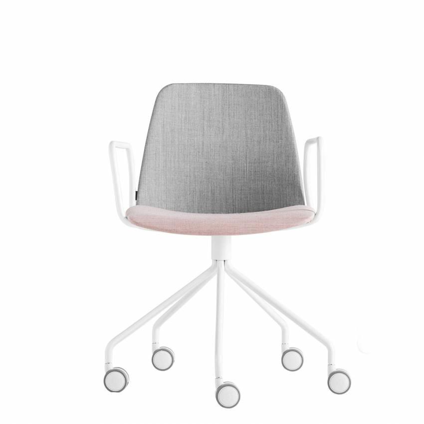 Chaise de bureau avec accoudoir à roulettes UNNIA TAPIZ