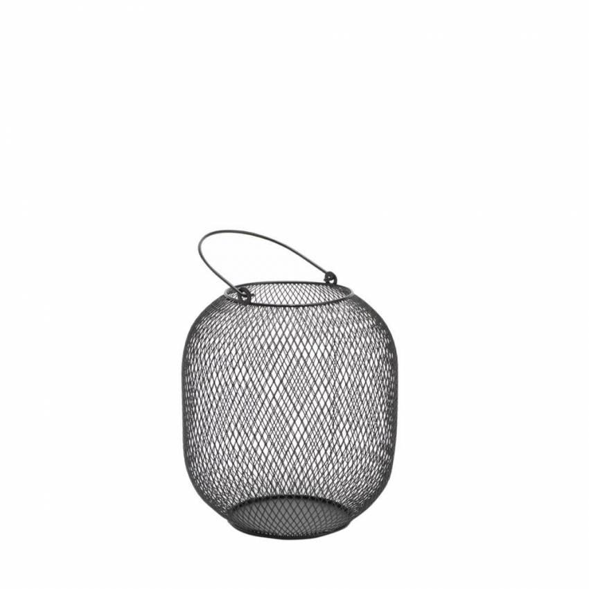 Lanterne métal / H.19 cm / Noir