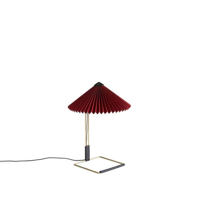 Lampe de table MATIN / H. 38 ou 52 cm / Rouge Bordeaux