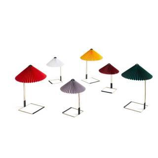 Lampe de table MATIN / H. 38 ou 52 cm / Rouge Bordeaux