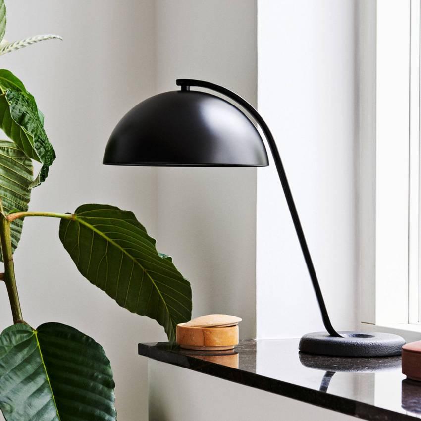 Lampe de table CLOCHE / H. 43 cm / Noir