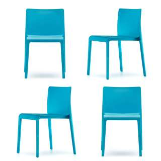 Lot de 4 chaise VOLT 670 / Bleu
