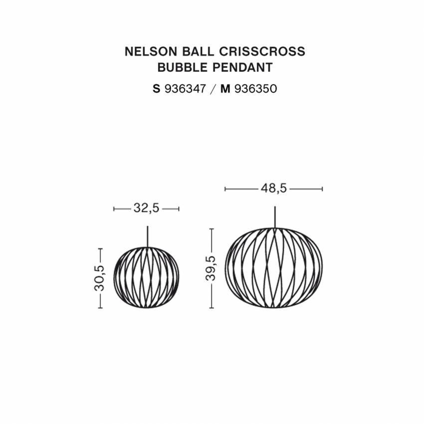 Suspension BALL CRISSCROSS BUBBLE / Ø 32,5 ou 48,5 cm / Blanc