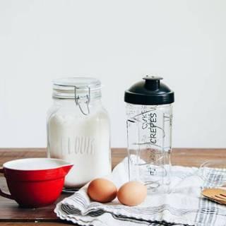 Shaker MIAM pour Pâte à Crêpes, Pancakes et Gaufres / 2 minutes
