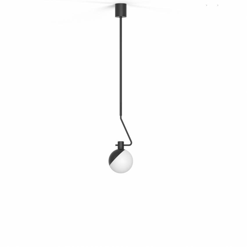 Suspension BA-C en acier - verre soufflé / Noir / Grupa