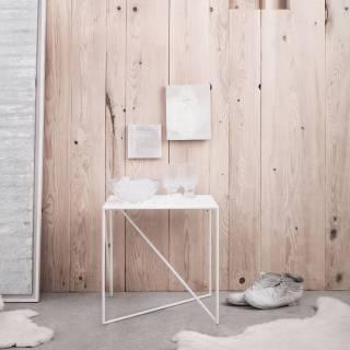 Table d'appoint DOT / L. 40 ou 70 cm / Blanc