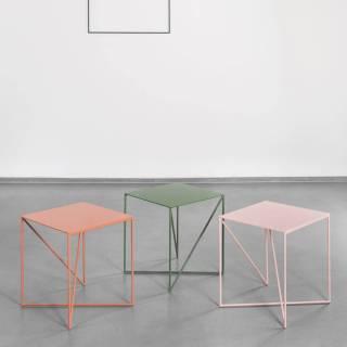 Table d'appoint DOT / L. 40 ou 70 cm / Terre-Brique