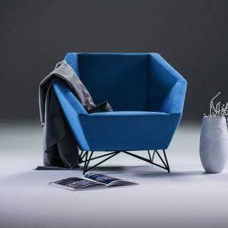 Fauteuil 3ANGLE / L. 100 cm / Bleu