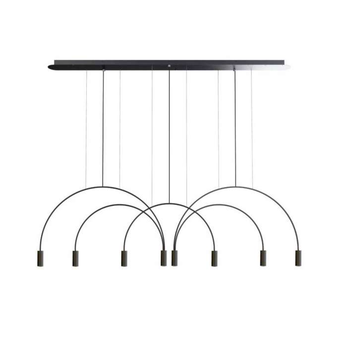 Suspension VOLTA / H. 242 cm / Noir