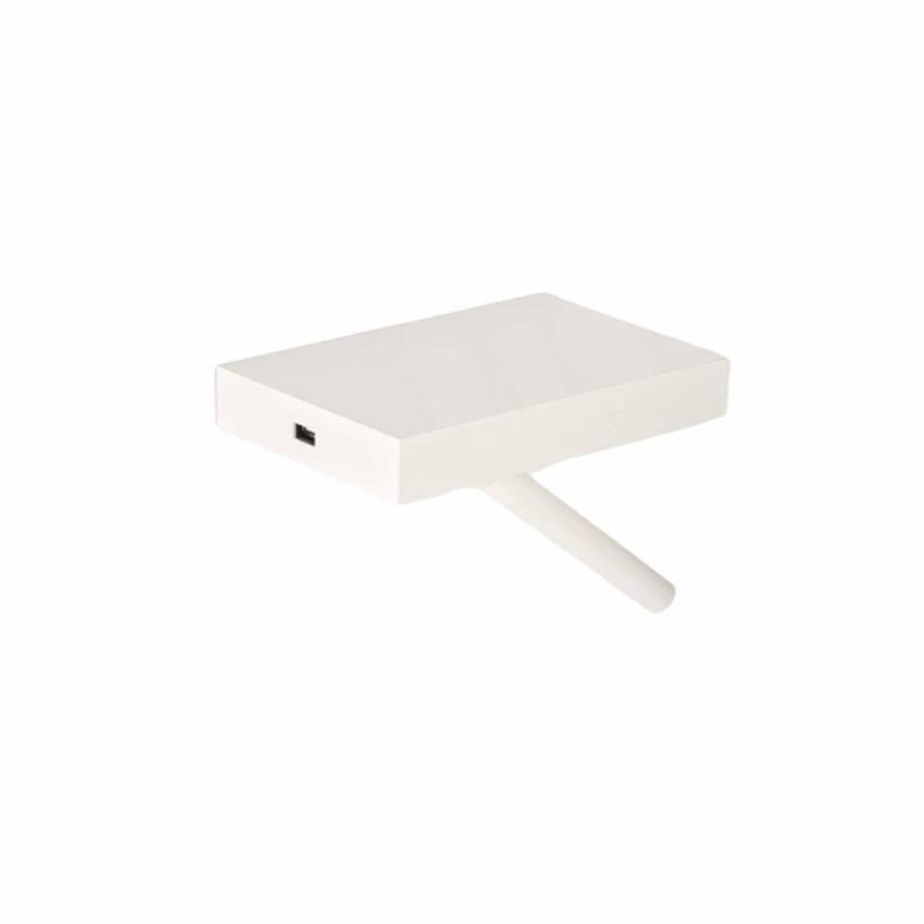 Applique liseuse NIT / L. 20,3 cm / Blanc et Blanc
