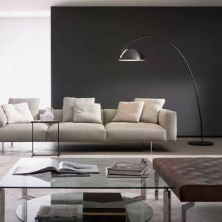 Lampadaire PLUMA / H. 204,5 cm / Noir et Noir