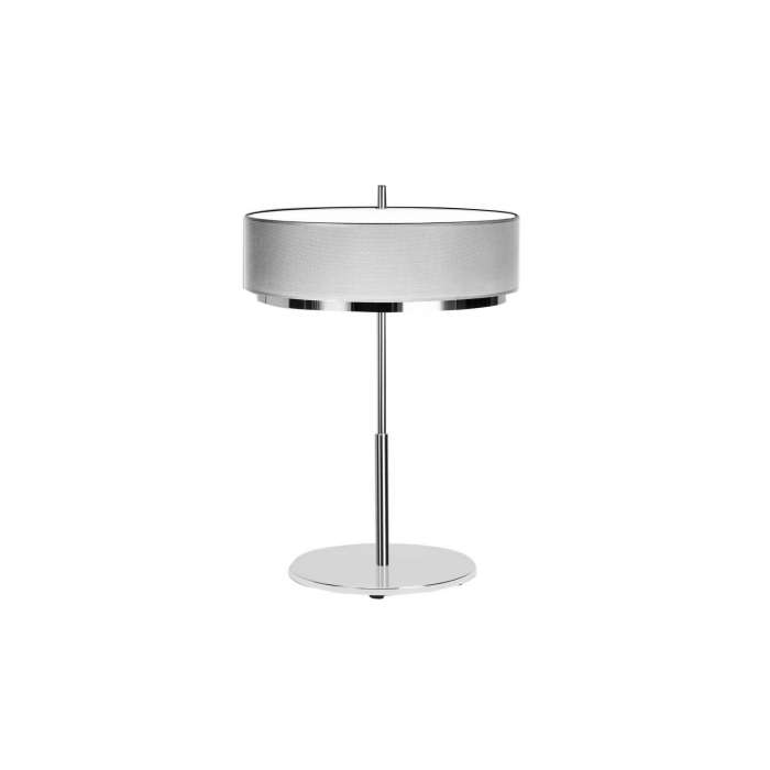 Lampe de table IRIS / H. 61 cm / Blanc et Chrome