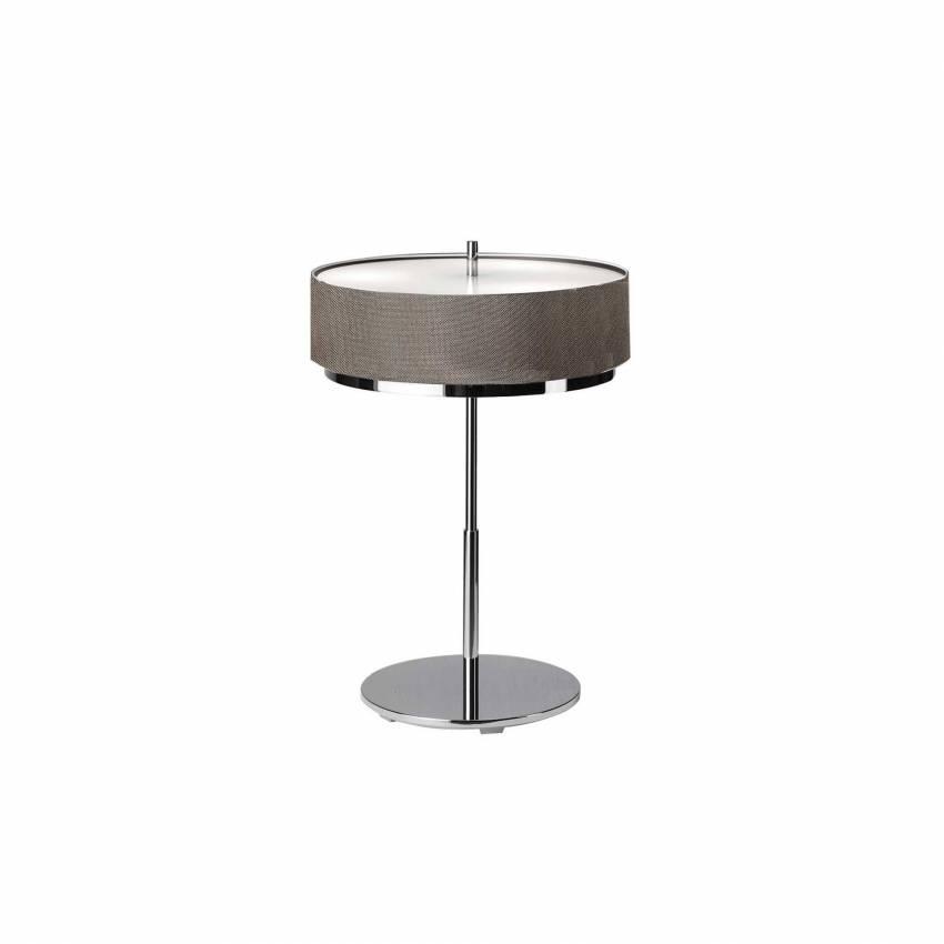Lampe de table IRIS / H. 61 cm / Gris Argenté et Chrome