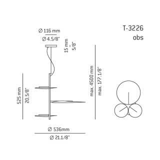 Suspension OBS version 3 ou 5 / Blanc / Estiluz