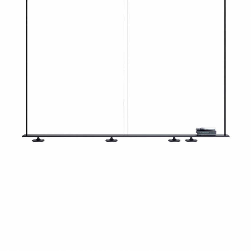 Estiluz / Rail suspendu BUTTON 4 lampes led T-3306