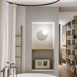 Applique murale miroir CIRC / Ø 16 cm / Gris Fumé / Verre