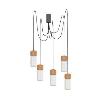 Estiluz / Luminaire suspendu PILA M5 5 lampes led / Blanc