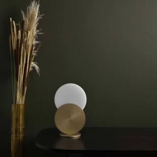 Lampe de chevet DUO / H. 31 cm / Laiton
