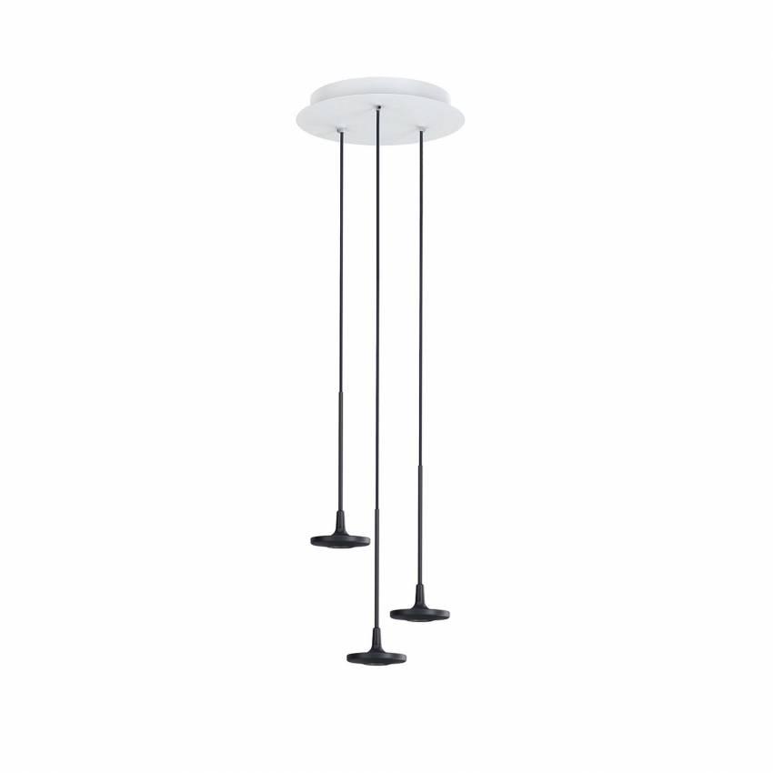[MAUD] Suspension ronde BUTTON / 3, 7 ou 13 lampes / Noir