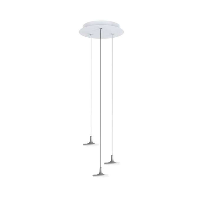 Estiluz / Suspension ronde BUTTON / 3, 7 ou 13 lampes / Blanc
