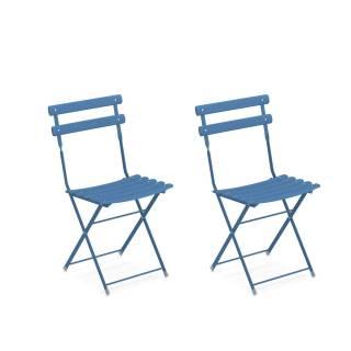Lot de 2 chaises de jardin ARC EN CIEL / 8 coloris
