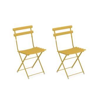 Lot de 2 chaises de jardin ARC EN CIEL / Jaune