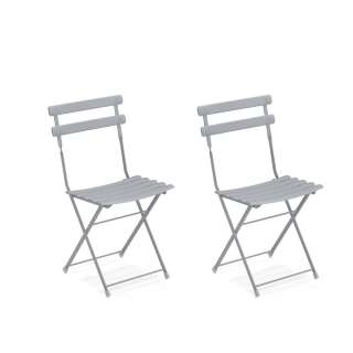 Lot de 2 chaises de jardin ARC EN CIEL / Gris Nuage