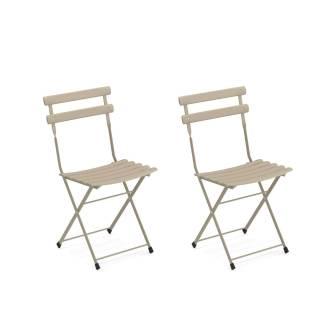 Lot de 2 chaises de jardin ARC EN CIEL / Tourterelle