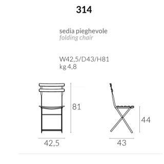 Lot de 2 chaises de jardin ARC EN CIEL / Vert