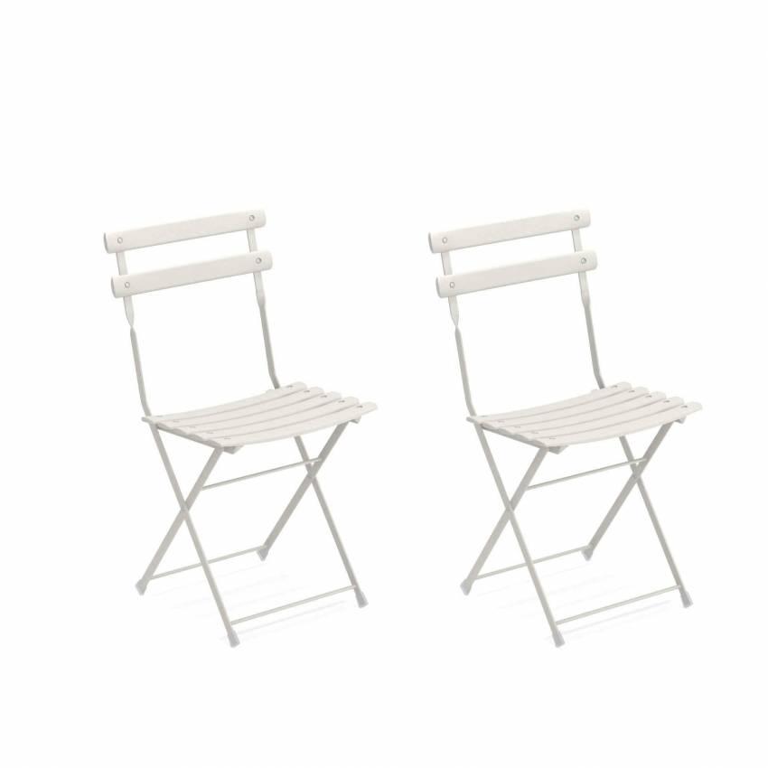 Lot de 2 chaises de jardin ARC EN CIEL / Blanc