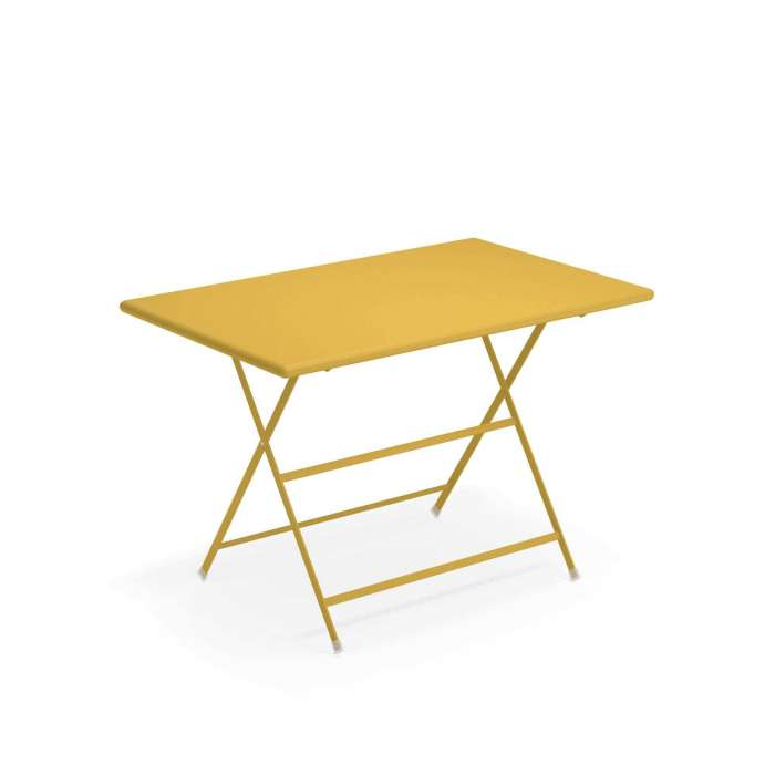 Table de jardin ARC EN CIEL / Jaune