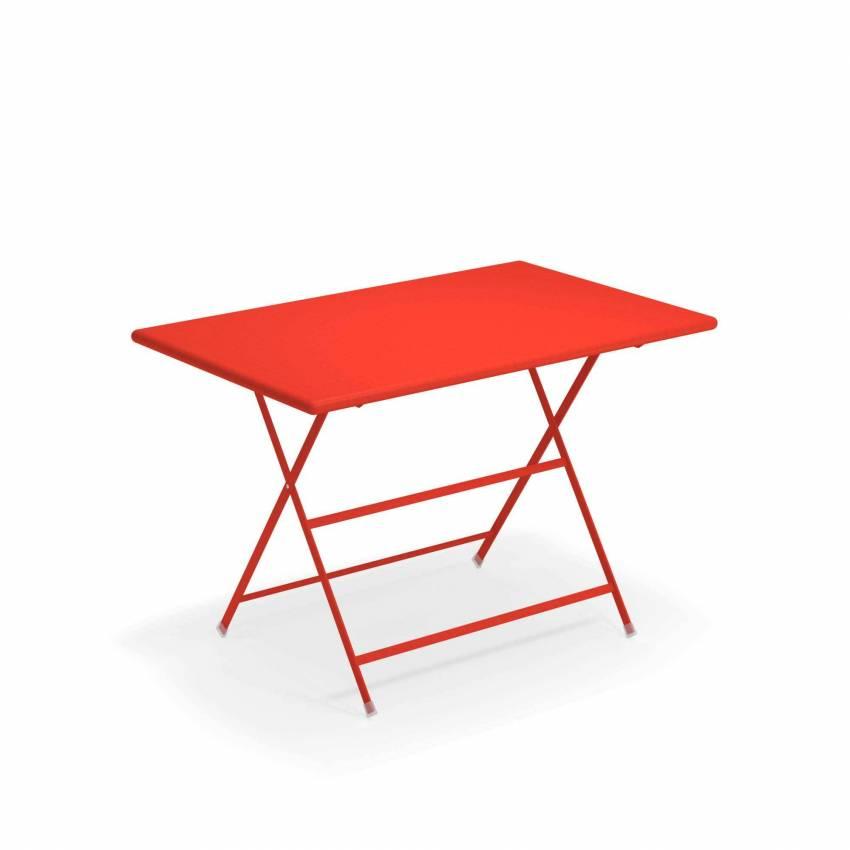 Table de jardin ARC EN CIEL / Rouge