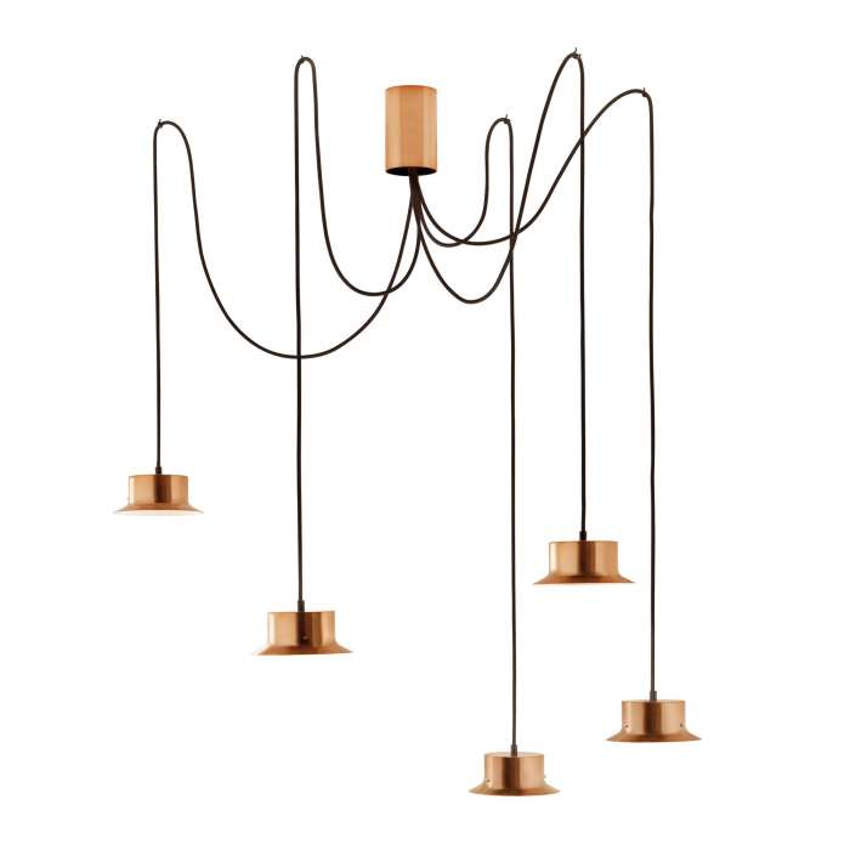 Estiluz / Suspension MAINE 5 lampes / Cuivre